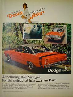 1968 Dodge Fever Ad - Dodge Dart Swinger For the swinger at heart