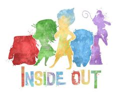 Inside Out 8x10 Poster DIGITAL DOWNLOAD door LittoBittoEverything