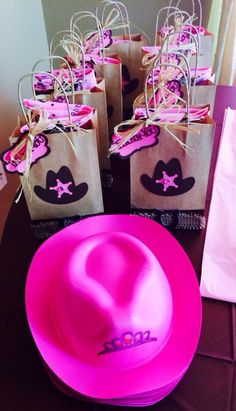 Thank You Goodie Bags and Princess Hats for Girls