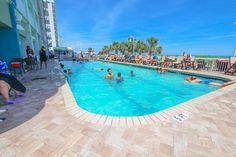Outdoor pool.  Paradise Resort Condos for Sale | Myrtle Beach Condos   #paradiseresort  http://www.c21theharrelsongroup.com/paradise-resort/
