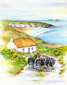 Cows, Ireland, Irish Art