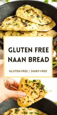 Dairy Free Appetizers, Gluten Free Recipes For Dinner, Gluten Free Cooking, Dairy Free Recipes, Vegetarian Recipes, Gluten Free Dinners, Recipes With Naan Bread, Gluten Free Naan, Vegan Gluten Free