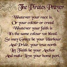 Pirates prayer- t-shirt sale Pirate Code, Pirate Quotes, Pirate Sayings, Pirate Ship Tattoos, Pirate Map Tattoo, Pirate History, Pirate Art, Pirate Ships, Pirate Decor