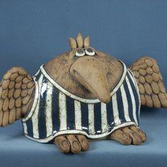 Ptáci Ceramic Animals, Ceramic Art, Paper Mache, Clay Art, Coin Purse, Birds, Fantasy, Purses, Gallery