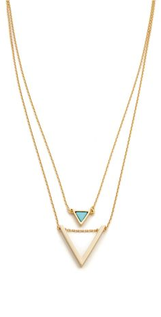 Jules Smith Short Layered Triangle Necklace   SHOPBOP SAVE UP TO 25% Use Code: BIGEVENT16