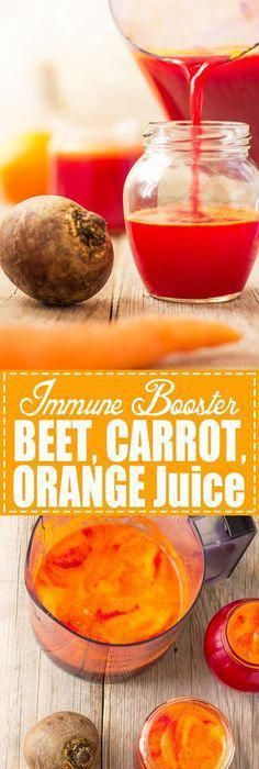 Immune Booster Beet Carrot Orange Juice - Fresh fruit and vegetable juices are perfect for boosting your body with nutrients! Detox your liver and help you to stay healthy! Best cleanse juice recipe happyfoodstubecom Click the image for more info. Healthy Juice Recipes, Juicer Recipes, Healthy Detox, Healthy Juices, Detox Recipes, Healthy Smoothies, Healthy Drinks, Smoothie Recipes, Detox Juices