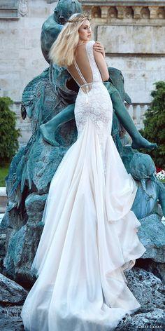 galia lahav fall 2016 bridal cap sleeves deep v neck trumpet lace wedding dress (roxanne) romantic princess bv illusion low back train #wedding #bridal #engaged #bride #weddinggown #weddingdress