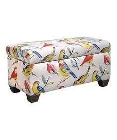 Loving this Birdwatcher Summer Storage Bench on #zulily! #zulilyfinds #birdwatching