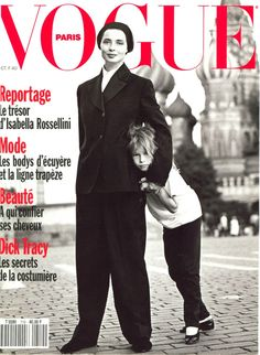 Isabella Rossellini with daughter Elettra Wiedemann for Vogue Paris - 1990.