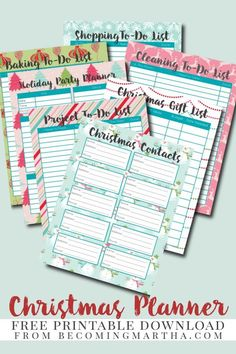We have rounded-up some free printable Christmas planners for you! We are not overwhelming you with too many to look at and choose from. We have 4 practical and print-friendly planners. Christmas Planner Free, Christmas Planning, Free Christmas Printables, Free Printables, Free Holiday Planner Printables, Organized Christmas, Planner Pages, Printable Planner, Planner Stickers