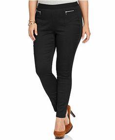Style&co. Plus Size Pants, Curvy-Fit Zip-Pocket Skinny Pull-On - Plus Size Pants & Shorts - Plus Sizes - Macy's