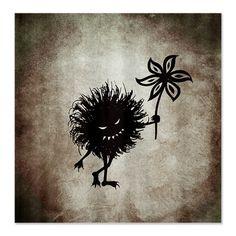 Vintage Evil Bug Gives Flower Shower Curtain $57.99 #showercurtain #gothic #halloween #decor #home #cafepress