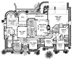 Emejing Large One Story House Plans Photos - 3D house designs ...