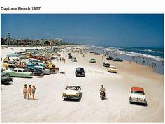 Daytona Beach Florida, 1957 so many wonderful wheels