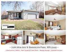 Just Listed in Brooklyn Park, MN! Welcome home to this functional 3 level split, fresh paint in and out, new carpet, updated kitchen with stainless appliances, large fenced in yard perfect for kids and animals. Oversize 2 stall heated garage. New patio pavers.  For more photos and info visit: http://www.mndreams.com/featuredlistings/ or take a virtual tour! http://www.obeo.com/994833