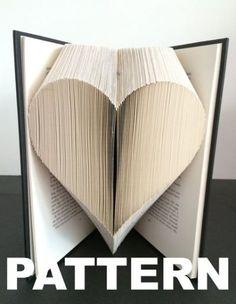 Book Folding Pattern Heart Free