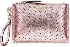 Victorias Secret Laser Cut Night Out Wristlet - afflink Jogging Outfit, Victoria Secret Bags, Body Spray, Workout Pants, Vs Pink, Laser Cutting, Cosmetic Bag, Night Out, Totes