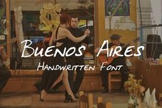 Buenos Aires - Handwritten Font by amyxbao on @creativemarket