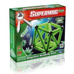 Klocki magnetyczne Supermag Maxi Glow 44 el. Plastwood