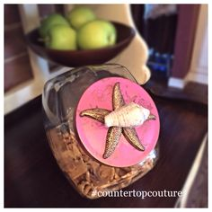 A personal favorite from my Etsy shop https://www.etsy.com/listing/226109168/flamingo-pink-coastal-style-cookie-jar