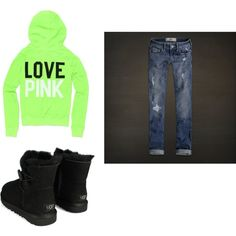 hoodie, jeans, and uggs = my favorite winter outfit <3