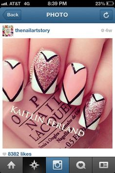 valentines nail designs pictures | Cool Valentines nails | Nail ideas