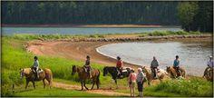 Brudenell River Provincial Park, PEI  Run horses on the beach!