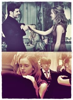 Deleted scene of Hermione dancing with Krum at Bill and Fleur's wedding. Ron's face makes this scene