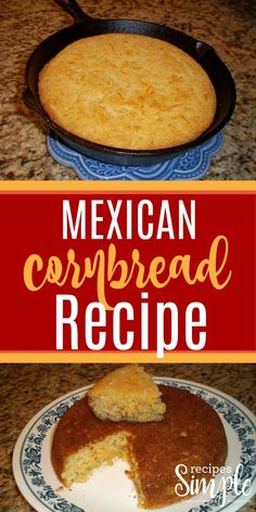 Mexican Cornbread Recipe This Mexican cornbread is so good you could eat it by itself! Creamed corn, cheddar cheese and green chilies make for a moist and delicious cornbread! Easy Mexican Cornbread, Creamed Corn Cornbread, Southern Cornbread Recipe, Mexican Cornbread Casserole, Jalapeno Cheddar Cornbread, Homemade Cornbread, Cheddar Cheese, Mexican Corn Bread Recipe, Cheddar
