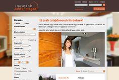 Ingatlanportál webdesign