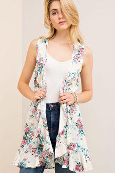 FLORAL SLEEVELESS VEST Floral prints vest by NADYASCLOSET