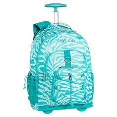 Gear-Up Pool Zebra Rolling Backpack #pbteen