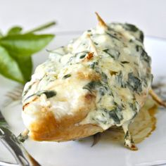 Easy stuffed chicken breasts with parmesan and basil filling.--I think I will replace the basil with Spinach