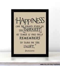 Harry Potter Inspired Happiness Quote Print 8x10 // by StephiiShop, $8.50 // movie quote // inspiring quote // positive quote // christmas gift ideas