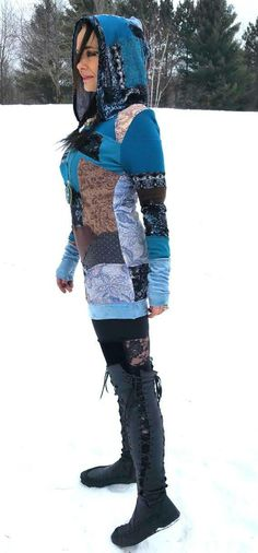 I love patchwork and randomness Handmade Clothes, Fall Winter Outfits, Refashion, Clothing Ideas, Leather Boots, Giveaway, My Photos, That Look, Costumes