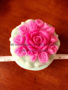 Rose silicone mold rose soap mold basket rose by SymphonyCraftHome