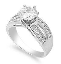 Sterling Silver Princess Cut CZ Ring