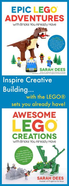 LEGO® Books - Inspire creative building with new project ideas and instructions using bricks you already have!  Kids will love these awesome LEGO books.