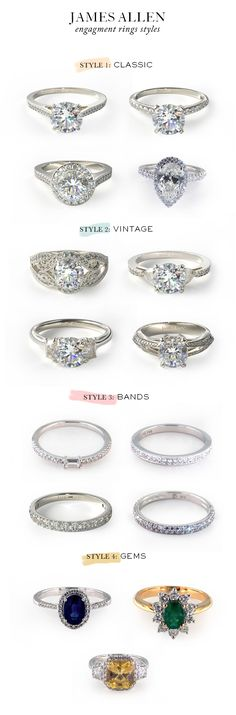 James Allen engagement rings