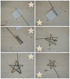 Stelle in fil di ferro da utilizzare come cake-topper. Wire star pictorial