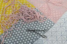 Wool woven on plasti