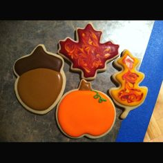 Decorated Fall Sugar Cookies