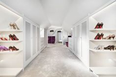 Another view of our Wiltshire client's clothes storage. She loved what our interior designer created for her.