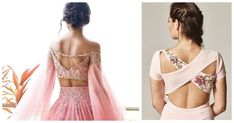 Blouse back neck designs have all kinds of styles from simple blouse back design to modern and edgy ones. Check out some of the best and latest blouse designs of 2019 here! Pin those you love to refer when you need them! Blouse Back Neck Designs, Modern Blouse Designs, Traditional Blouse Designs, Silk Saree Blouse Designs, Bridal Blouse Designs, Latest Saree Blouse, Lehenga Blouse, Lehenga Choli, Lehenga Modern