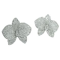 Cartier Caresse d'Orchidees Diamond Earrings | 1stdibs.com