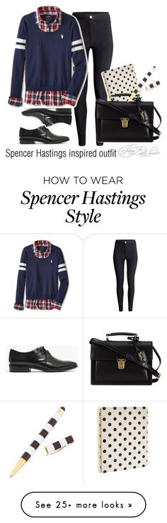 """""""Spencer Hastings inspired outfit/PLL"""" by tvdsarahmichele on Polyvore featuring H&M, U.S. Polo Assn., Madewell, Kate Spade, Yves Saint Laurent and Henri Bendel"""