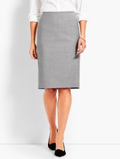 Seasonless Wool Pencil Skirt | Talbots
