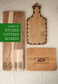 DIY: Etched Cutting Boards. So easy and they make a really cool gift.  |  Design Mom
