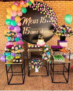 - Decoration For Home Neon Birthday, 15th Birthday, Birthday Party Decorations, Balloon Decorations, Birthday Parties, Deco Buffet, Party Items, Holidays And Events, Event Decor