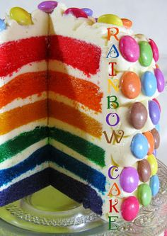 J'en reprendrai bien un bout...: Rainbow Cake